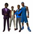 The LeBrons Season Two characters in 3-D