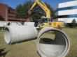 "48"" concrete pipe used for caissons"