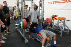 Athletes preparing for NFL Combine