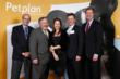 From left: Dr. Richard LeCouteur of UC-Davis School of Veterinary Medicine; Dr. Guy Pidgeon, CEO of WVC; Natasha Ashton and Chris Ashton, co-founders and co-CEOs of Petplan; and Steve Shell, VP Veteri