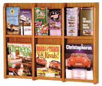Wooden Wall Mount Brochure Holder - 12 Slot