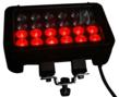 LEDLB-24E-VISRED Combination LED Light Bar with Red LED row Illuminated