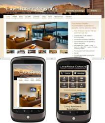 mobile accommodation website design