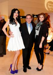 Beril Akcay, Morgan Drexen CEO Walter Ledda and Rebecca Black soak up atmosphere at Segerstrom Concert Hall