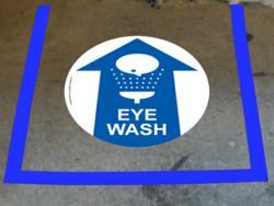 Eye Wash Station Floor Marking Kit