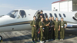 Air Camp students get an introduction to flight training and pilot a plane themselves.