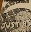 Just As, Johanna Drucker. Part of an exhibit at the San Francisco Center for the Book featuring experimental letterpress artist books.