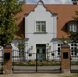 Entrance to the Manor House vacation rental in Western Pomerania, Germany