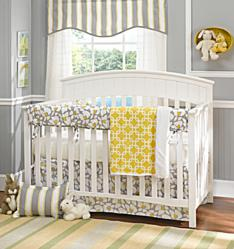 baby bedding, american made baby bedding, made in USA baby, gray and yellow baby, neutral baby nursery
