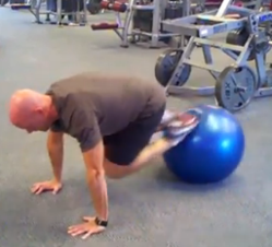 Stability Ball Jackknife Pushup Combo