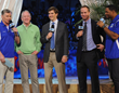 Archie, Eli and Peyton Manning and Michael Strahan - Credit: New York Daily News