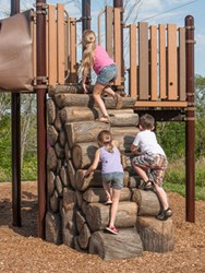 Log Stack Climber for PlayBooster® playstructures