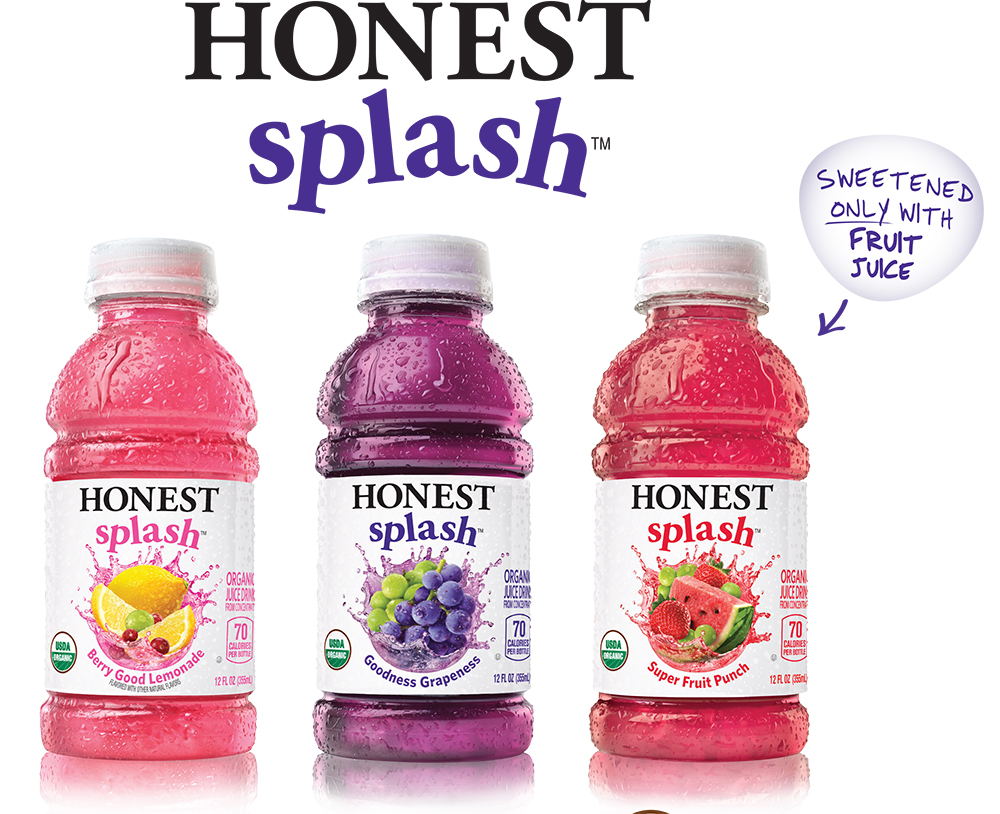 Honest Tea 174 Introduces Honest Splash Juice Drinks
