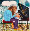 "Dana Schutz, ""Piano in the Rain,"" 2012, oil on canvas. Courtesy of the artist and Petzel, New York."