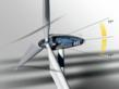 Balluff inclination sensor monitoring tower tilt on a wind turbine