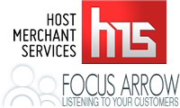 Host Merchant Services and Focus Arrow logos