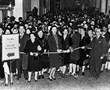 "First postwar nylon sale in San Francisco was so mobbed that newspapers called it the ""Nylon Riots,"" 1945-1946"