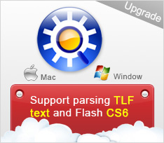 Sothink SWF Decompiler supports parsing TLF text and Flash CS6