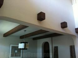 Manufactured wood beams are available in virtually any design combination