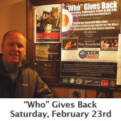 "The Who generously donated a new sound system to LIC Bar after Hurricane Sandy, now LICBar is paying it forward by holding a Charity Concerty with ""Who's Next"".  All proceeds go to Teen Cancer America."