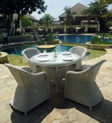 Monte Carlo 4 Seater Patio Dining Set