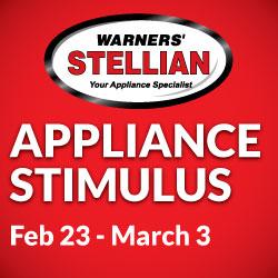 The appliance stimulus is back at warners stellian for Warners stellian