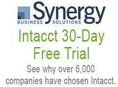 Synergy's Intacct 30-Day Free Trial