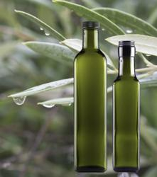 Protective dark glass bottles perfect for best storage of quality olive oil