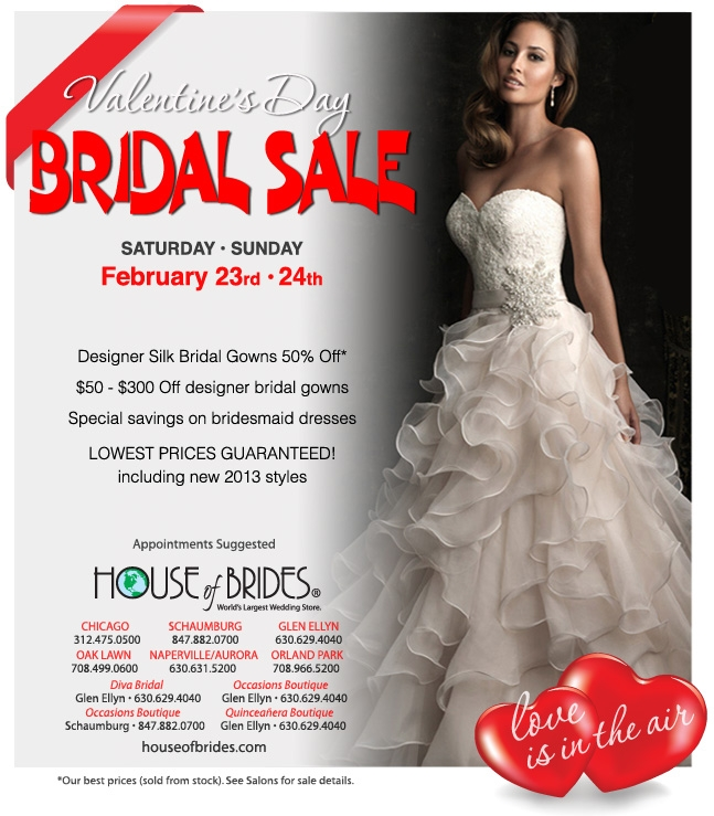 House Of Brides To Host 2 Day Valentine S Day Bridal Sale