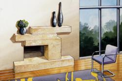 contemporary-stone-fireplace-mantels--Ledge-Ressie-Ehle