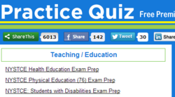 PracticeQuiz.com adds Teaching and Education exams to it's library of free exam review sets