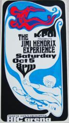 1968 Jimi Hendrix Honolulu HIC Arena Concert Posters