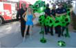 "Artists Karen & Tony Barone Pose With Local Firemen & ""R.HERO"" Sculpture"