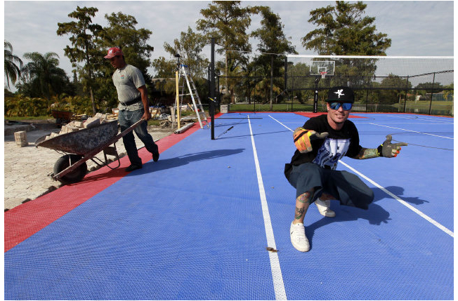 Snapsports athletic surfaces to be featured on diy s hit for Diy sport court