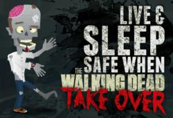Amerisleep Produces Walking Dead-Themed Infographic, Live &amp; Sleep Safe When The Walking Dead Take Over