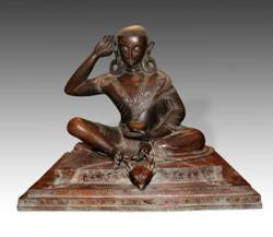 19th Century statue of Milarepa