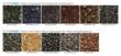 Color chart for FilterPave poured-in-place pervious paving system