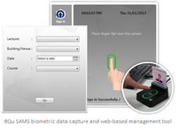 biometric data capture and web-based management tool