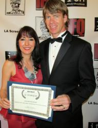 Luciana Lagana and Gregory Graham at the 2013 LA Screenplay Competition