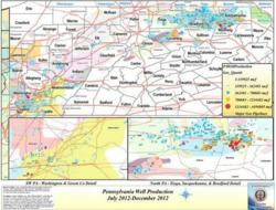 Latest Pennsylvania Marcellus Shale Gas Well Production Data Shows
