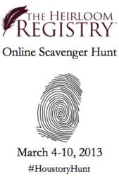 heirloom registry, houstory, family history, genealogy, keepsakes, family stories, antiques, scavenger hunt
