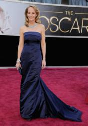 Helen Hunt in H&M Oscar Dress Supporting Global Green - photo courtesy of Getty