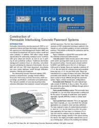 ICPI Tech Spec 18: Construction of Permeable Interlocking Concrete Pavement Systems