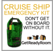 Be prepared for maritime disaster or service interuptions while on board with the Cruise Ship Emergency Kit from Get Ready Room.