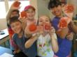 Campers show off their Hand Made Soaps at Highland Hall