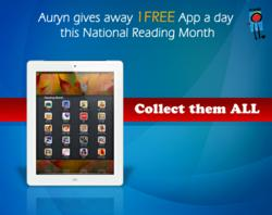Auryn gives away 1 app a day for National Reading Month.