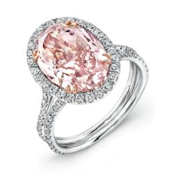 the 15 million dollar pink diamond engagement ring by uneek fine jewelry - Million Dollar Wedding Rings