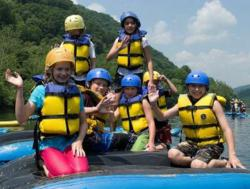 Summertime rafting on the New River with ACE Adventures, Southern West Virginia.