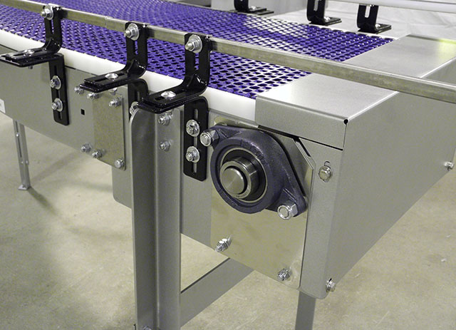 Modular conveyor express upgrades to powder coated steel for Express modular pricing