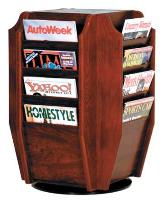 Counter Top and Floor StandRotating Magazine Holders